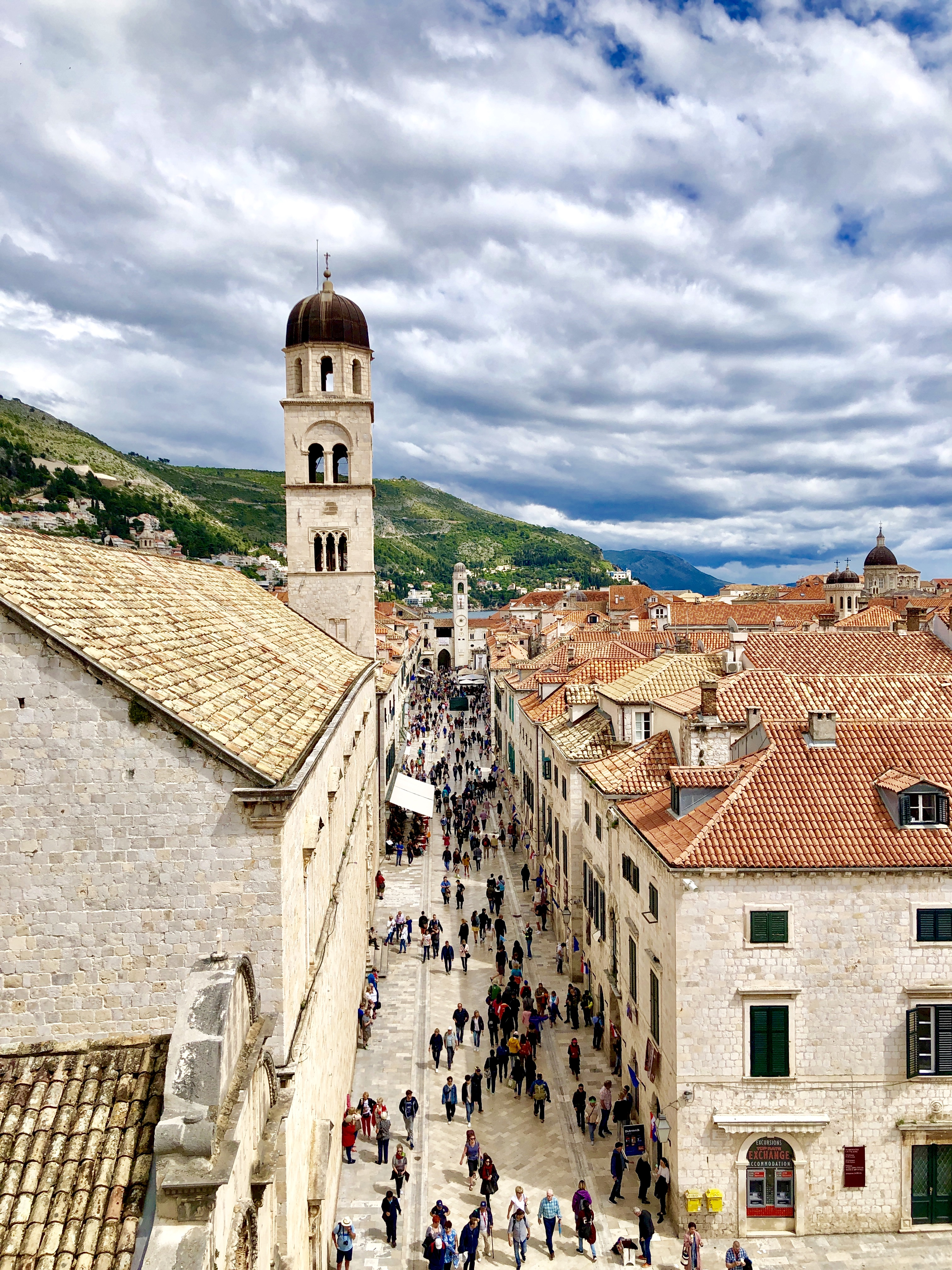 Tracy Dunn's top 12 things to do in Dubrovnik, Croatia - walking the Placa - great people watching, shops, and cafes.  Walking at night is beautiful too.