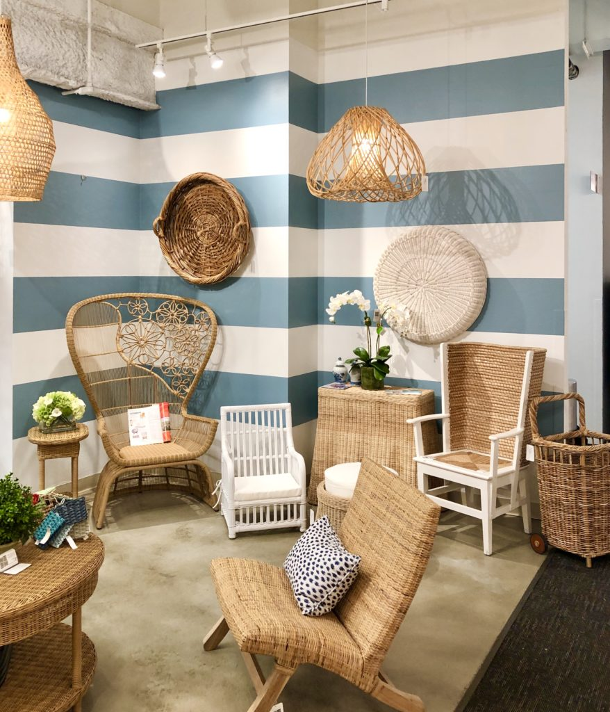 Tracy Dunn Design mixes wicker in the several of her projects.
