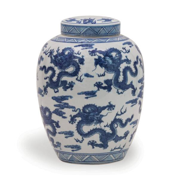 Tracy Dunn Design - Blue Dragon Urn