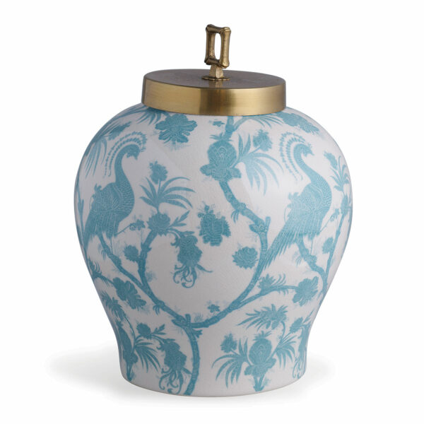 Tracy Dunn Design - Balinese Peacock Turquoise Jar