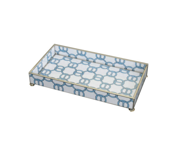 Tracy Dunn Design - Blue chain 6 x 12 tray