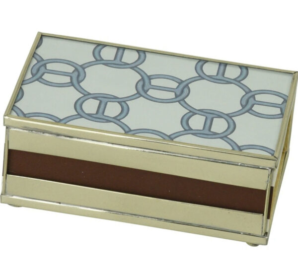 Tracy Dunn Design - Matchbox with matches-Blue Chain