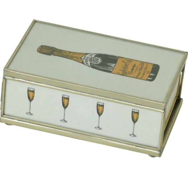 Tracy Dunn Design - Matchbox with matches-Champagne Bottle