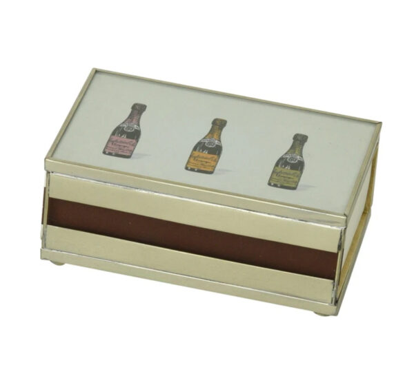 Matchbox with matches Three Champagne Bottles Design