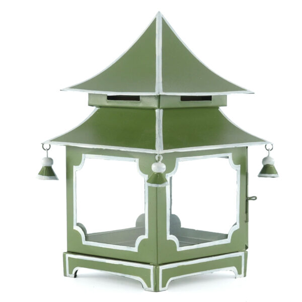 Tracy Dunn Design - Mini Pagoda French Green with Silver Trim grande