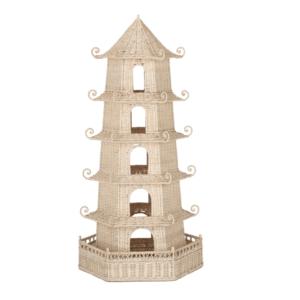 Tall Woven Wicker Pagoda