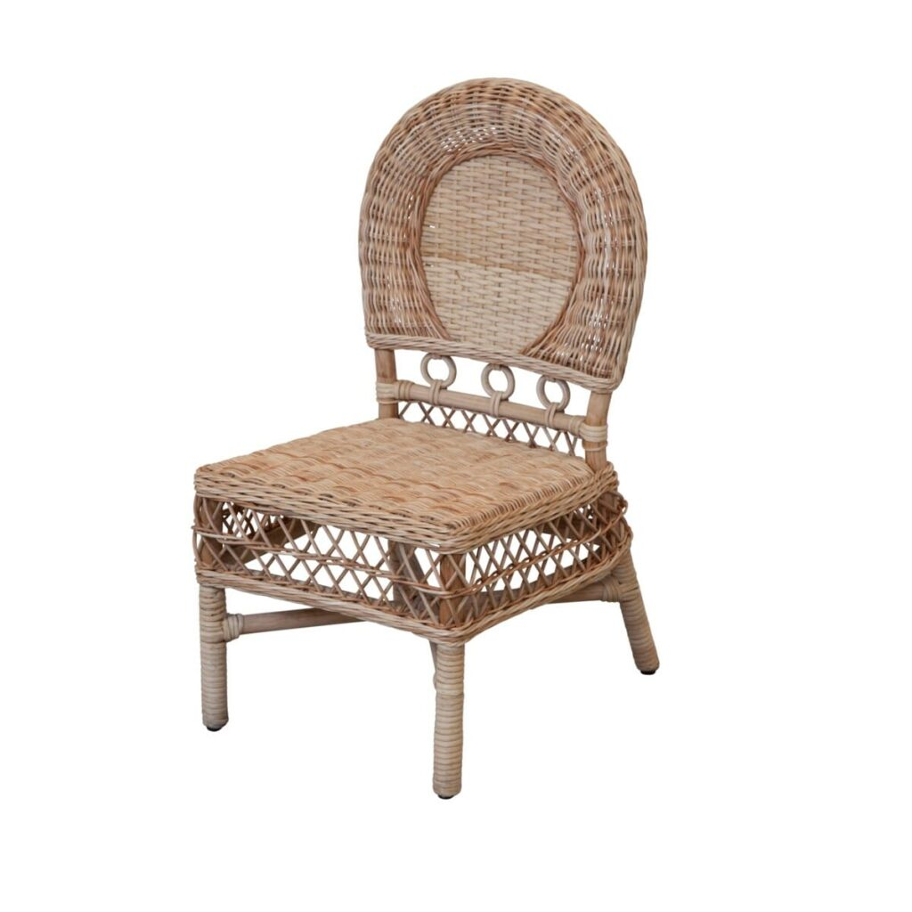 Tracy Dunn Design - Child's Coastal Wicker Play Chair
