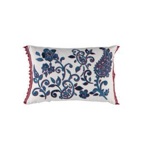 Tracy Dunn Design - Floretta Paisley - Rouge Cushion