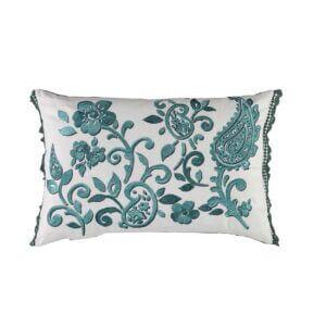 Tracy Dunn Design - Floretta Paisley - Peacock Cushion