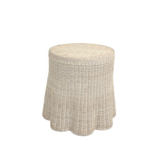 Lyford Round Scallop-Antique-White