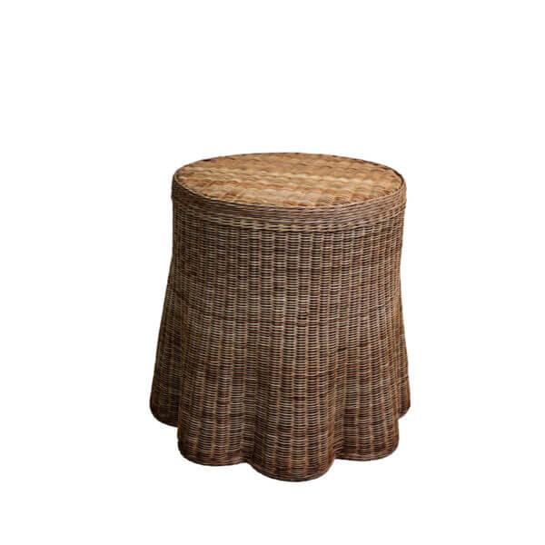 Lyford Round Scallop-Chesnut