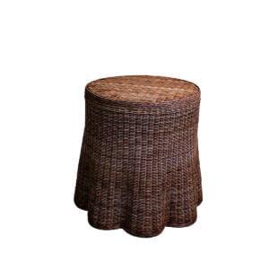Lyford Round Scallop-Dark-Walnut
