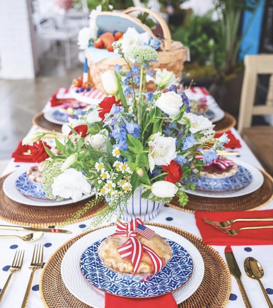 Red, White, and Blue Tablescape