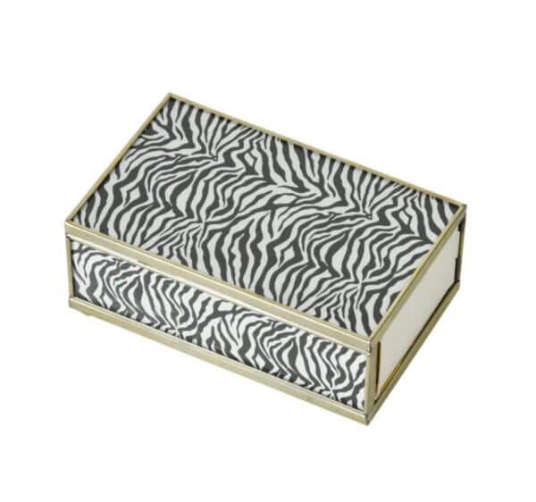 Matchbox with matches-Zebra Stripes