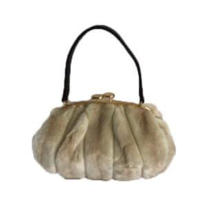Chloe-ivory-mink-faux-fur-Handbag