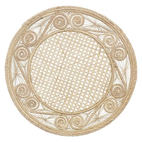 Handwoven Palm Leaf Decorative Placemats