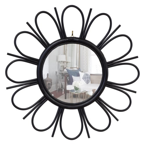 decorative metal rimmed mirror