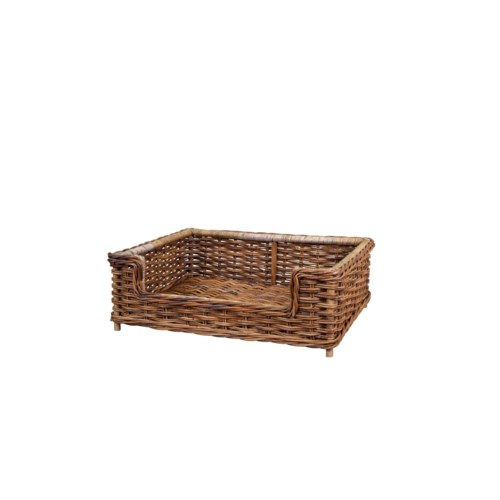 French Country Wicker Dog Bed